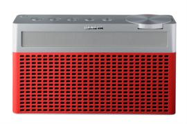 Geneva Touring / S oplaadbare portable hi-fi DAB+ en FM radio met Bluetooth, rood