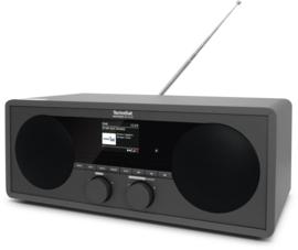 TechniSat DigitRadio 451 CD IR stereo houten wifi internetradio met CD, DAB+ en FM, antraciet