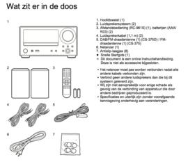 Onkyo CS-375D-BB stereo CD receiver systeem met DAB+, FM, Bluetooth, CD-speler en USB, zwart