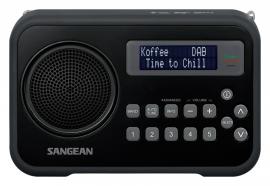 Sangean DPR-67 portable digitale DAB+ en FM radio, zwart