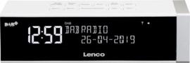 Lenco CR-630 WH stereo wekker radio met DAB+ en FM, wit