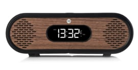 View Quest Rosie-Lee DAB+ wekkerradio met FM en Bluetooth,  Black Leather Walnut
