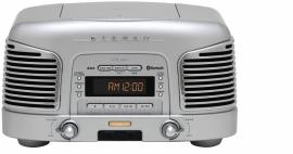 Teac SL-D930 retro 2.1 geluidssysteem met CD, radio en Bluetooth, zilver