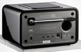 Scansonic R3 DAB+ en FM radio met alarm, walnoot