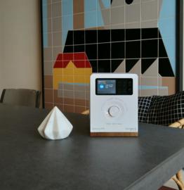 Tangent Spectrum stereo radio met DAB+/FM, Bluetooth, analoge ingang en wekkerradio functie, wit