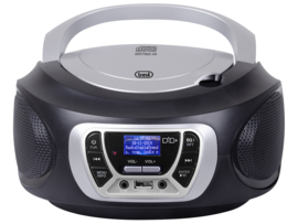Trevi CMP 510 draagbare radio met DAB+, FM, en CD speler, zwart