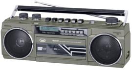 Trevi RR 511 DAB old skool boombox cassette speler met DAB+, FM, Bluetooth en USB, metaal