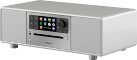 Sonoro Prestige SO-330 V2 stereo internetradio met DAB+, FM, CD, Spotify, Bluetooth en USB, silver