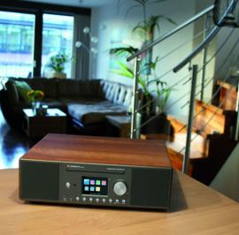 Albrecht DR 890 CD internet en DAB+ FM radio met CD, USB, walnoot