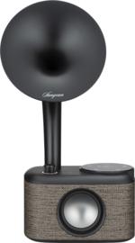 Sangean CP-100D DAB+ en FM retro radio met Bluetooth met ingebouwde accu, Fabric Grey-Black