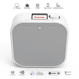 Hama DIR355BT onderbouw DAB+ en internet digitale radio met Spotify Connect, FM en Bluetooth, wit