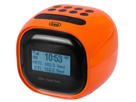Trevi RC 80D2 wekker radio met DAB+ en FM, oranje