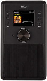 Block CR-10 Smartradio met DAB+, internet en Spotify, zwart, INRUIL