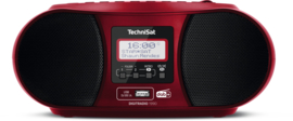 TechniSat DigitRadio 1990 stereo boombox met DAB+ Radio, FM, CD speler, USB en Bluetooth, rood