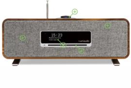 Ruark Audio R3 compact radio systeem, rich walnut