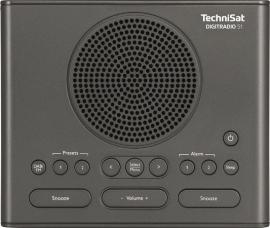 TechniSat DigitRadio 51 wekker radio met DAB+ en FM, antraciet
