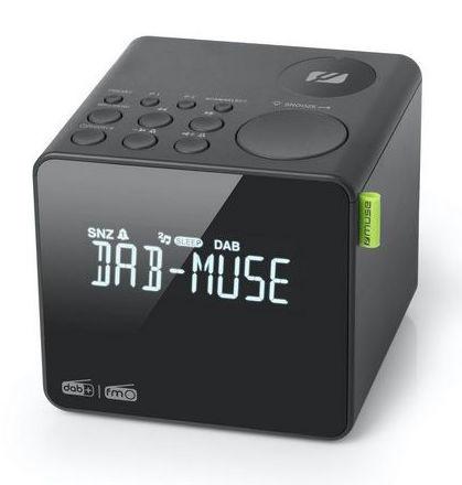 Muse M-187CDB DAB+ en FM wekker klokradio met groot LCD display