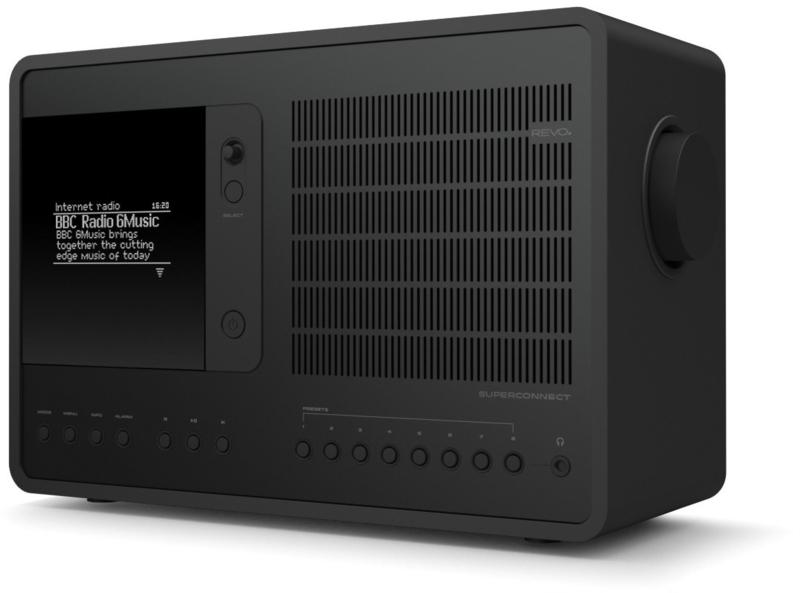 Revo SuperConnect radio met DAB+, internet, streaming, Bluetooth en Spotify, Shadow Edition, zwart