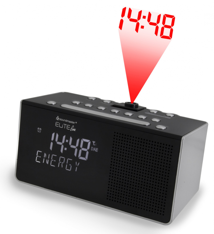 Soundmaster Elite Line UR8200SI DAB+ en FM wekkerradio met projectie