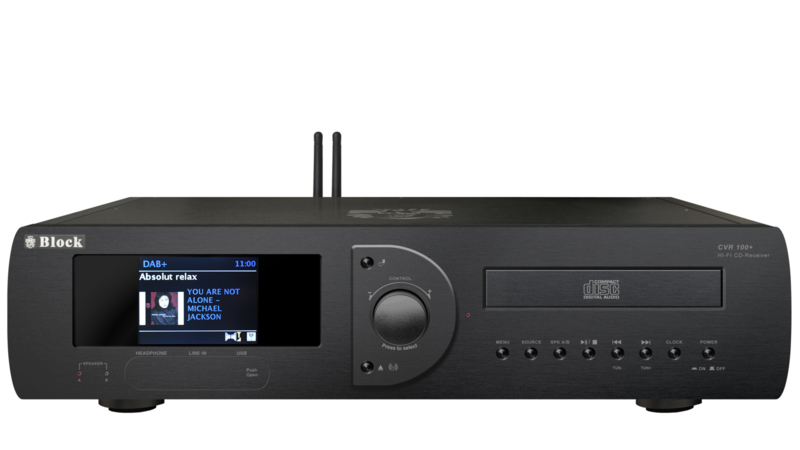 Block CVR-100+ MK2 internet receiver met DAB+, CD, all-in-one, zwart