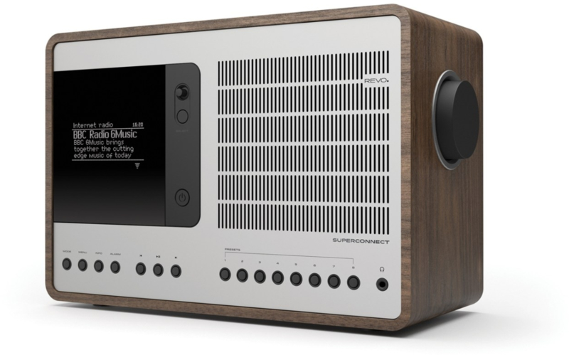 Revo SuperConnect radio met DAB+, internet, streaming, Bluetooth en Spotify, walnut silver