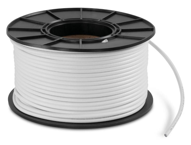 DAB / DAB+ coaxkabel, 4 voudig afgeschermd, 110 dB, per meter
