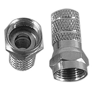 F connector voor coax 6,8mm, opschroefbaar
