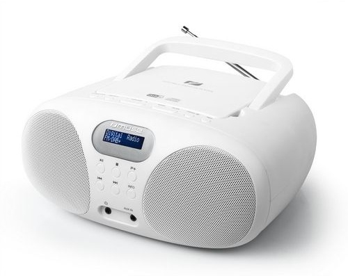 Muse MD-208 DBW draagbare stereo Radio CD speler met DAB+ en FM, wit