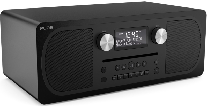 Pure Evoke C-D6 stereo digitale DAB+ radio met CD en Bluetooth, Siena Black