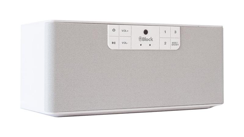 Block ABC - type B stereo netwerk luidspreker met internet radio, Spotify, Bluetooth, USB en mulitroom, wit
