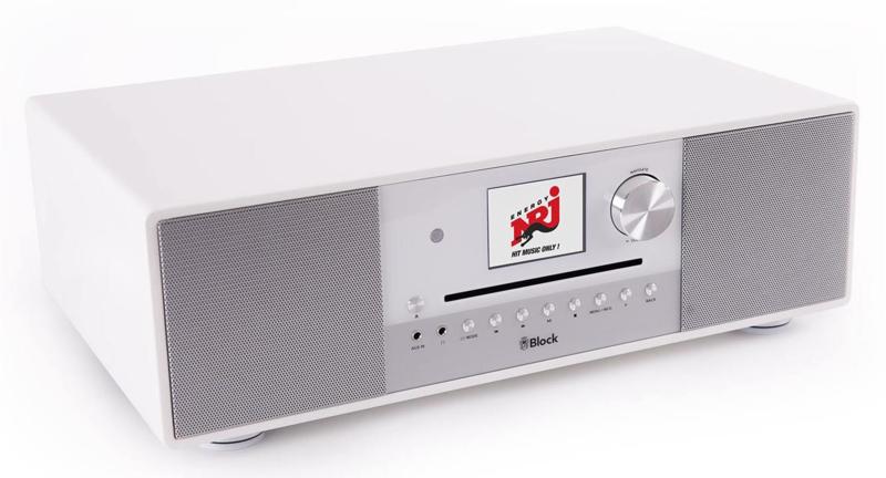 Block SR-200 mk2 smartradio high end all-in-one radio muziek systeem, wit