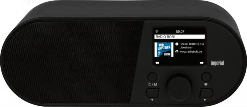 Imperial i105 wifi internetradio met USB en wekker, zwart, OPEN DOOS