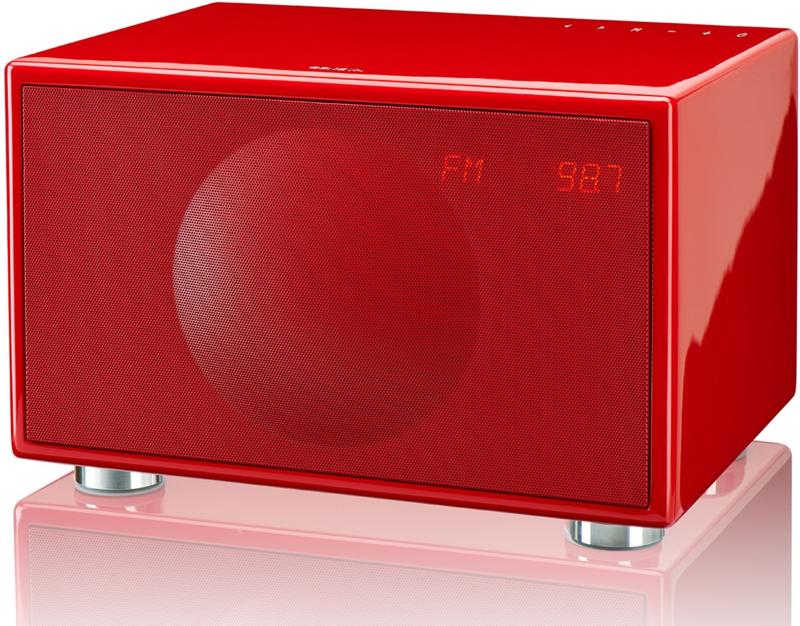 Geneva Classic /M stereo hi-fi speaker met FM en DAB + radio, Bluetooth en alarmklok, rood
