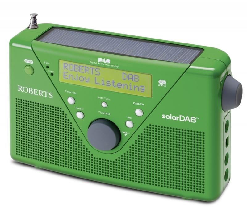 Roberts SolarDAB radio met DAB+ en FM met zonnepaneel, in groen