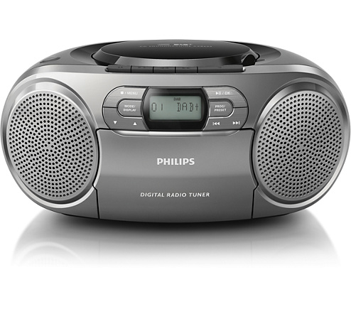 Philips stereo CD-soundmachine met DAB+ en cassette speler