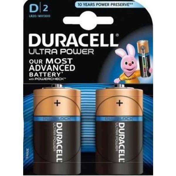 Type D batterijen, Duracell, set van 2