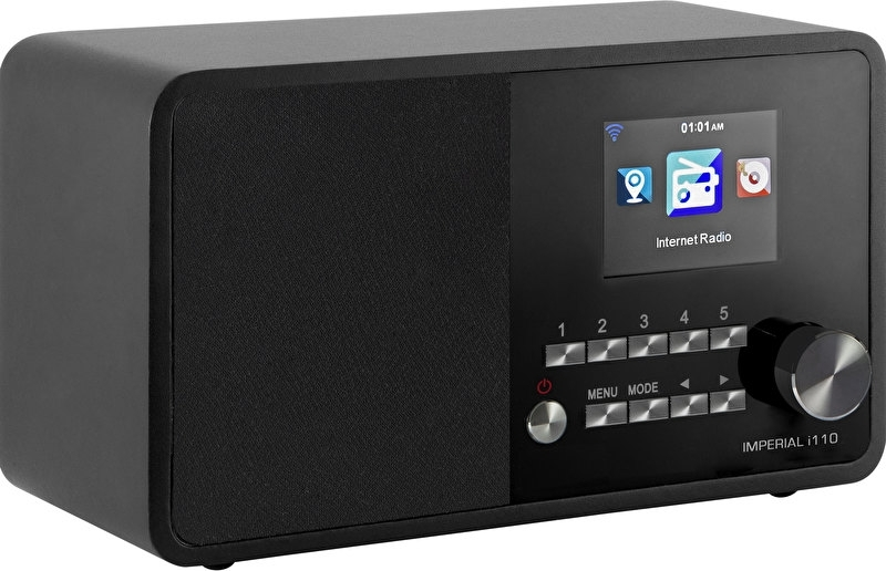Imperial i110 wifi internetradio met USB, zwart