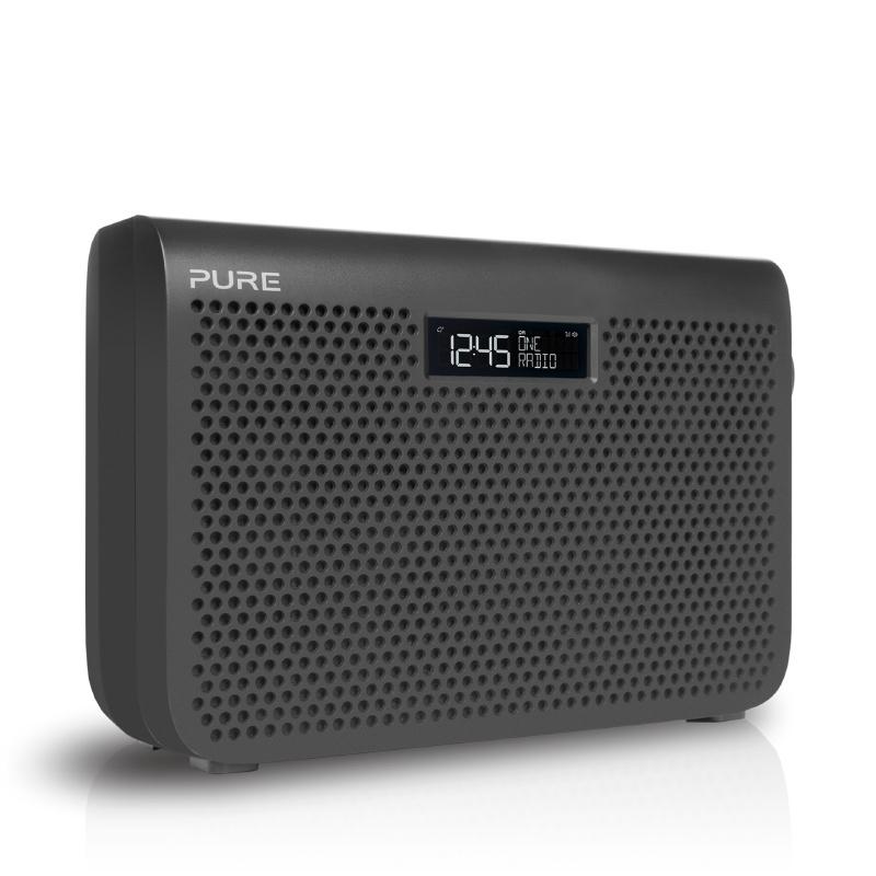 Pure One Midi Series 3 draagbare FM en DAB+ radio, graphite