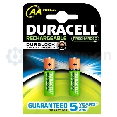 Oplaadbare AA batterijen, 2 stuks, Duracell