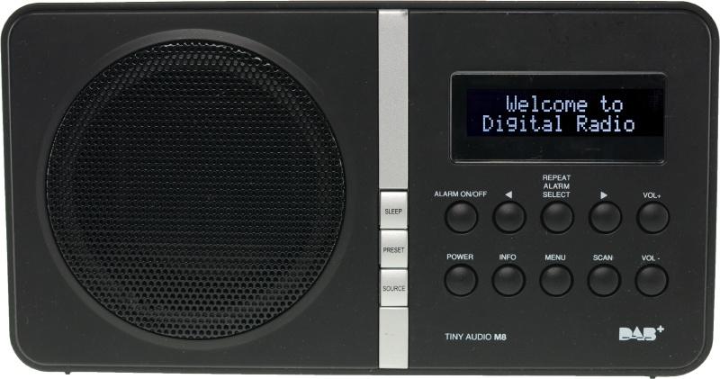 Tiny Audio M8 portable DAB+ en FM radio, zwart