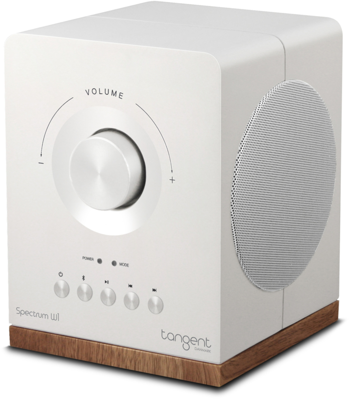 Tangent Spectrum W1 Google Cast draadloze stereo speaker met Bluetooth en analoge ingang, wit