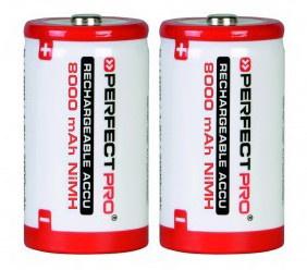 Perfectpro oplaadbare NiMH batterijen, type D, 2 stuks