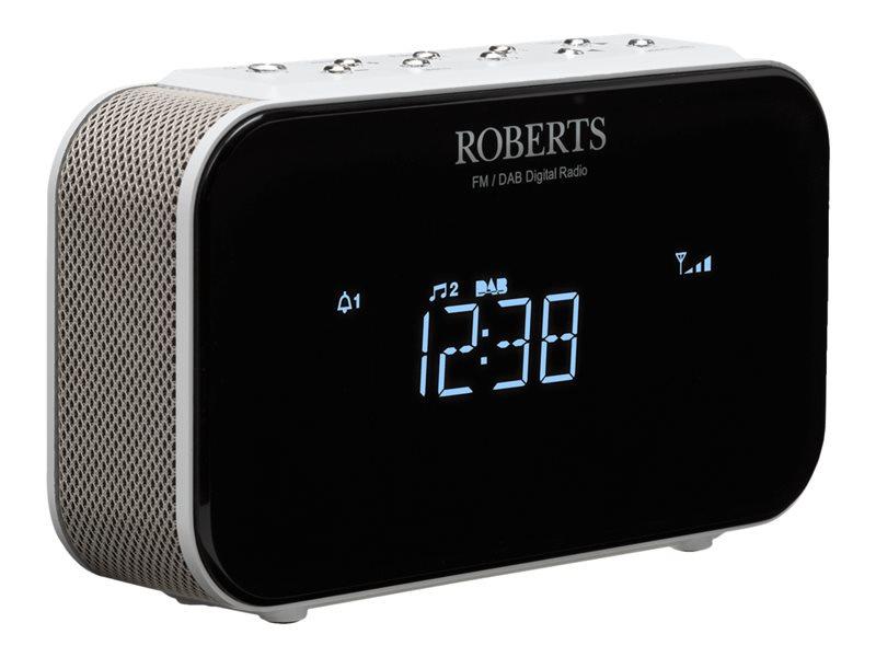 Roberts Ortus 1 DAB+ en FM wekker klokradio, wit