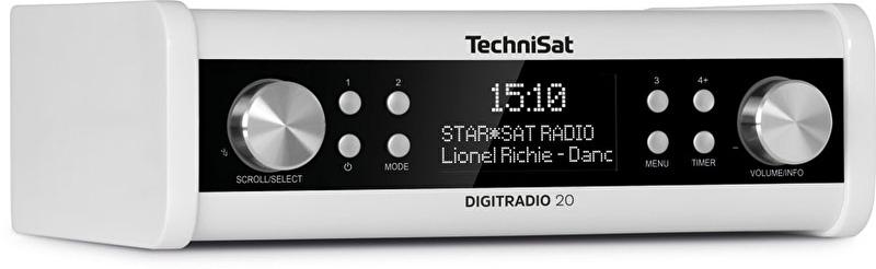 TechniSat DigitRadio 20 keuken (onderbouw) radio met DAB+ en FM, wit