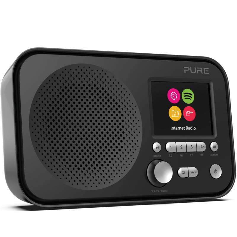 Pure Elan IR3 draagbare internet radio met Spotify Connect, zwart