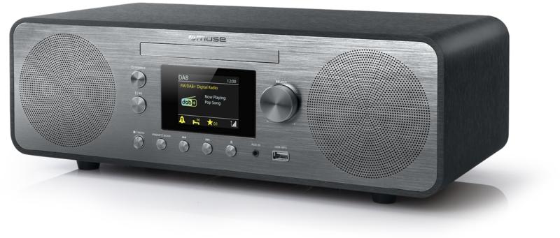 Muse M-885 DBT stereo DAB+ en FM radio met CD, USB en Bluetooth, 80 Watt