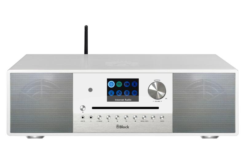 Block SR-100 Smartradio high end all-in-one radio muziek systeem, wit