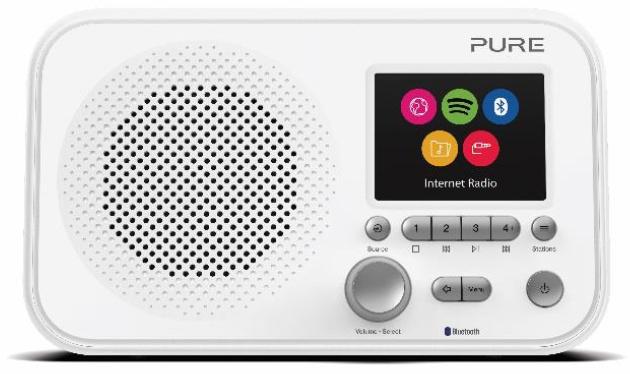 Pure Elan IR5 draagbare internet radio met Spotify Connect en Bluetooth, wit