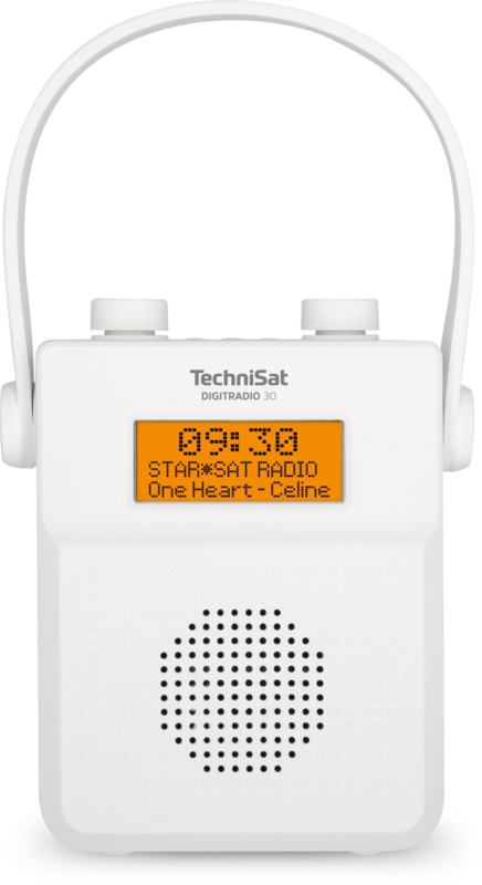 TechniSat DigitRadio 30 DAB+ en FM badkamer radio met Bluetooth ontvangst en oplaadbare accu, wit