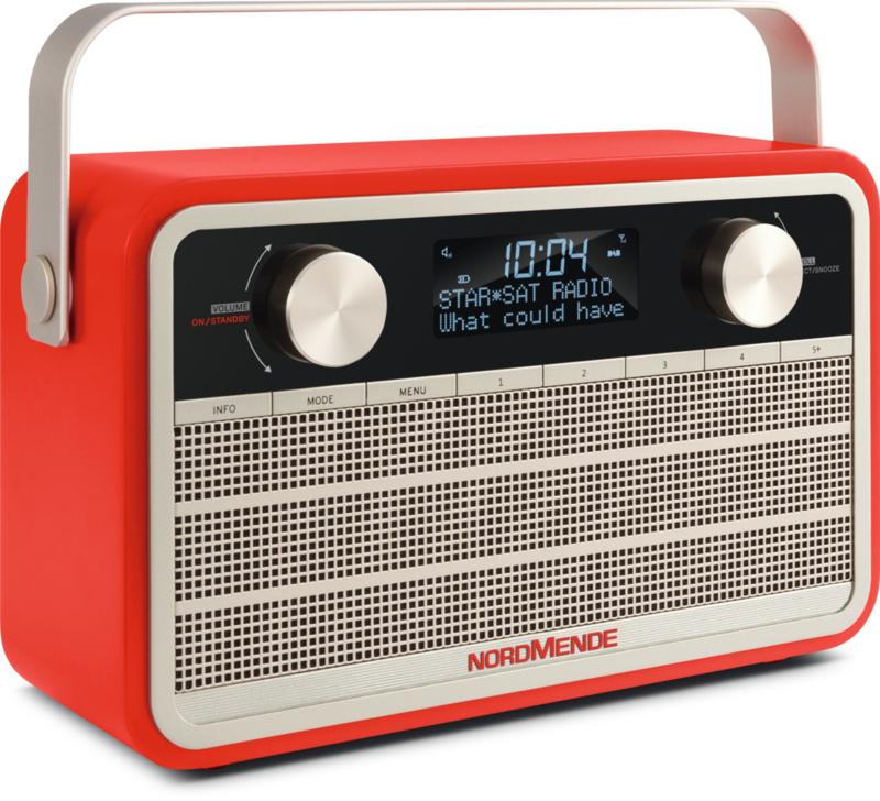Nordmende Transita 120 oplaadbare draagbare DAB+ en FM radio, rood